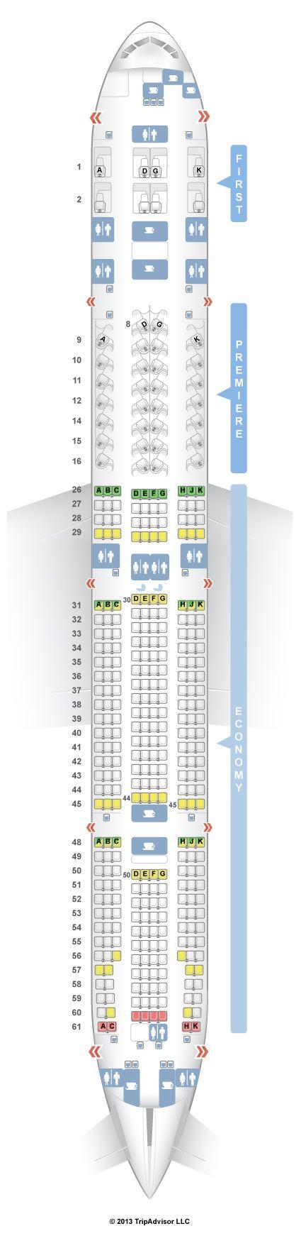 SeatGuru Seat Map Jet Airways Boeing 777-300ER (77W) V2