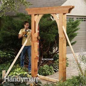 Build a Garden Arch - Step by Step | The Family Handyman