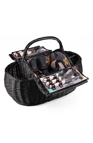Picnic Time 'Gondola' Wicker Picnic Basket available at #Nordstrom