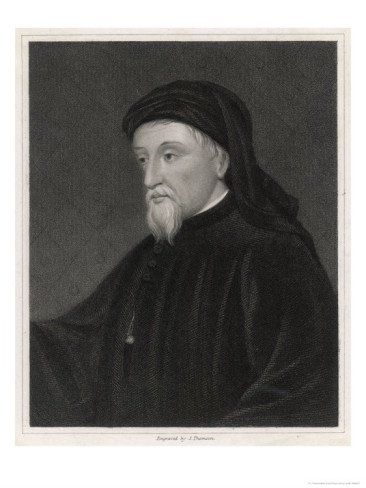 Geoffrey Chaucer English Poet Writer of the Canterbury Tales Giclee Print by J. Thomson at AllPosters.com