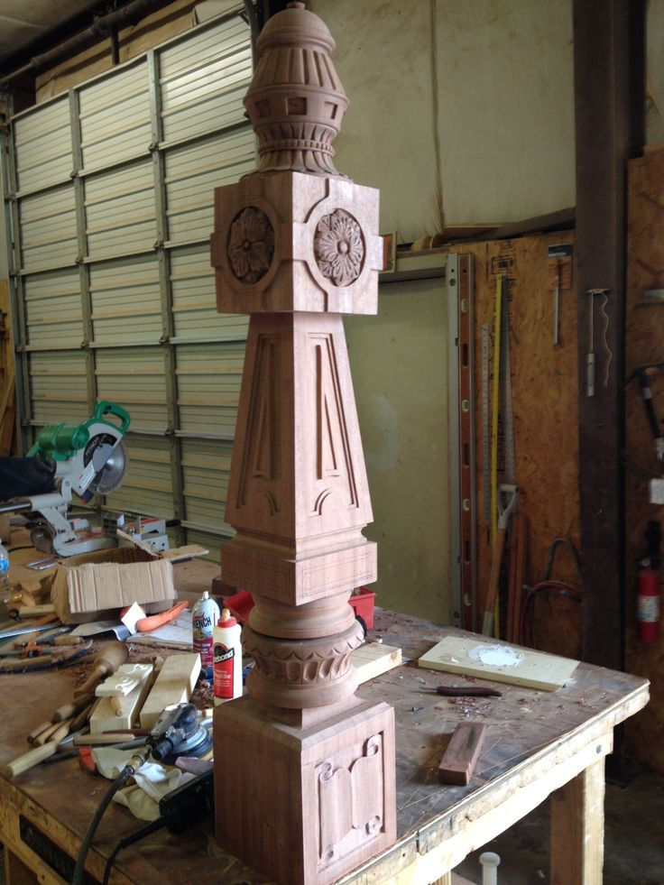 Turned Carved Newel Post Masterpiece Staircase And