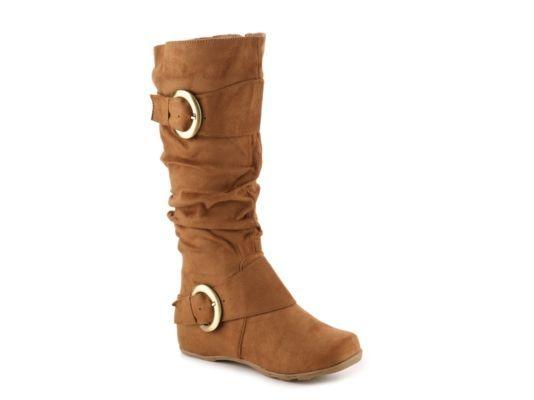 Women's Journee Collection Jester Wide Calf Boot - Cognac
