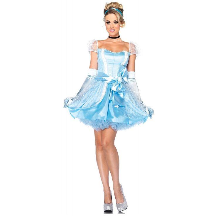 Glass Slipper Cinderella Costume Adult Disney Princess Halloween Fancy Dress | eBay