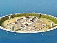 Идеята е огромен бетонен ринг и отводняване да покажат на остров останките от древния град
