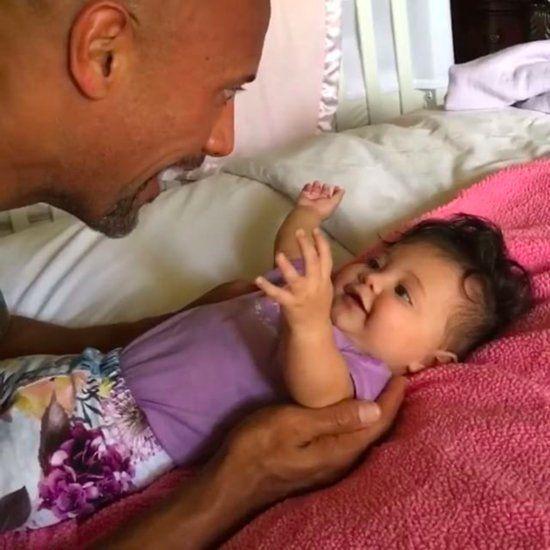 Dwayne Johnson Playing With Daughter Jasmine Video Aug. 2016