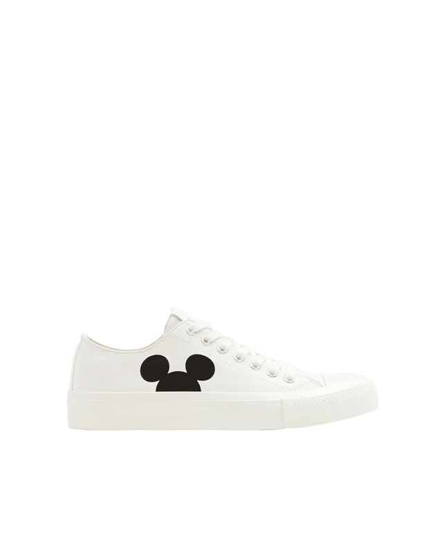 White Mickey Mouse Trainers Pull Bear Mickey Mouse Silhouette Mickey Mickey Mouse