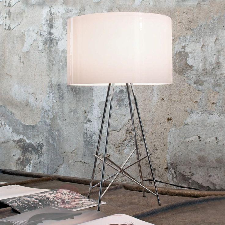 Lampa stołowa RAY T firmy FLOS z metalową podstawą 3510101X