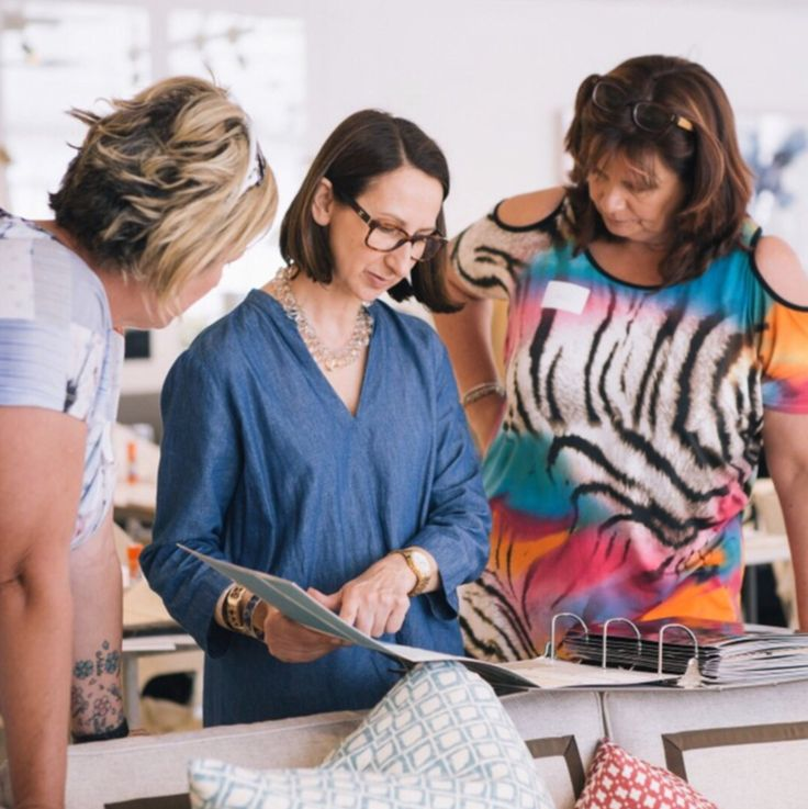 Our Founder Diane Bergeron in a workshop at the Arthur G furniture showroom