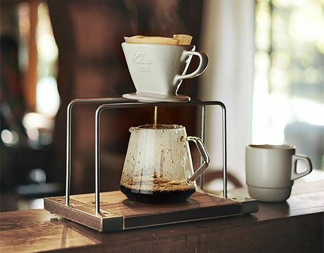 Zozoのjack Marieで販売されている Chill Out Design の コーヒードリップスタンド 味があって なんとも 良い感じ Chill Out Design コーヒ ドリップスタンド コーヒー 計量スプーン