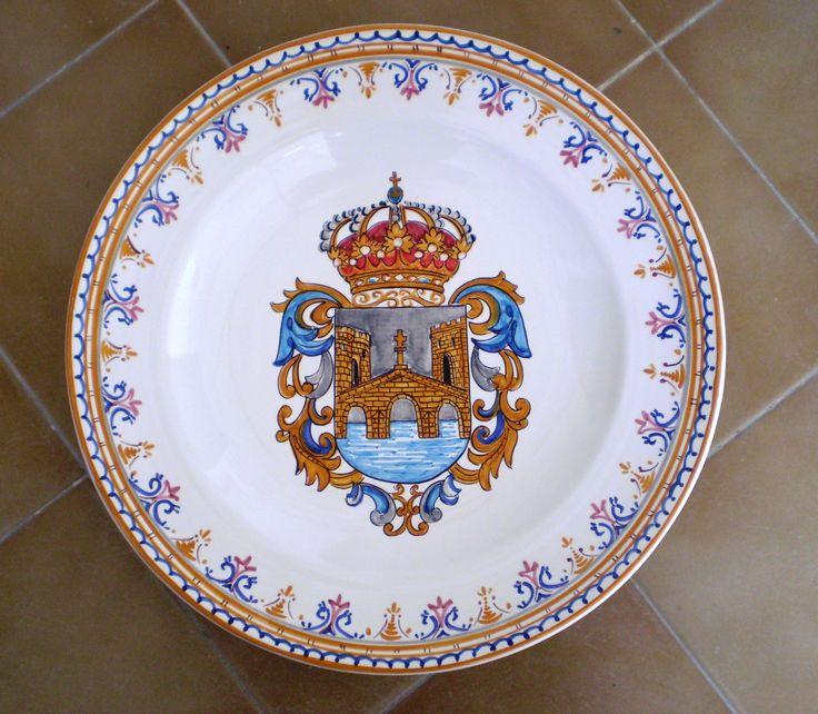 Plato escudo Pontevedra