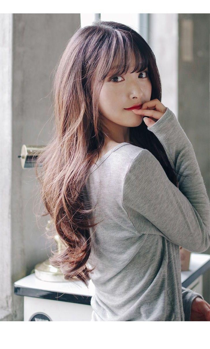 lange Haarmodelle – 21+ Korean Girl Long Hair wellige Frisur für 2018 – 2019