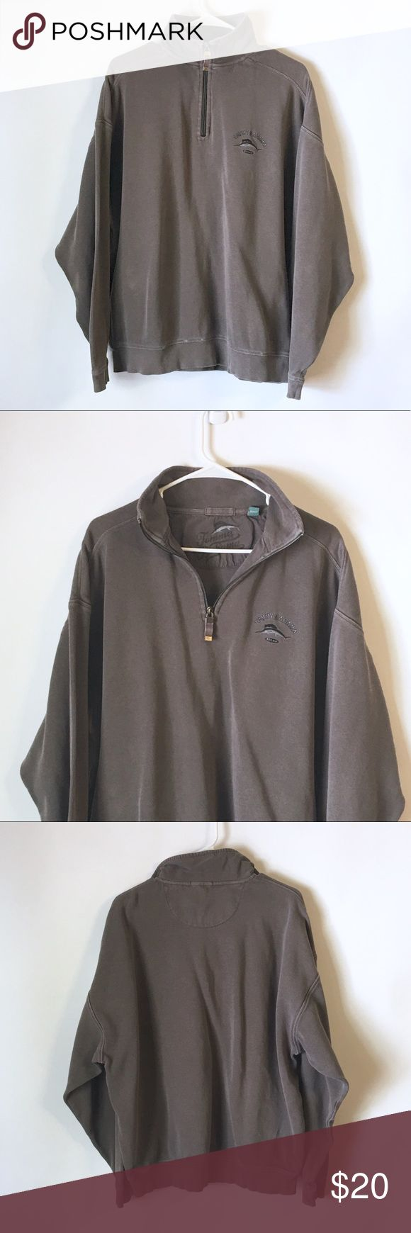 Rare Tommy Bahama Relax Men's Half Zip Sweater Brand:TommyBahama Relax Item name: Men's Half Zip Sweater   Color: Grey Condition: This is a pre-owned item. It is in in excellent used condition with no stains, rips, holes, etc. Comes from a smoke free household. Size: Men's XL Measurements: Pit to Pit - 25 inches Shoulder to bottom - 26.5 inches Tommy Bahama Sweaters Zip Up
