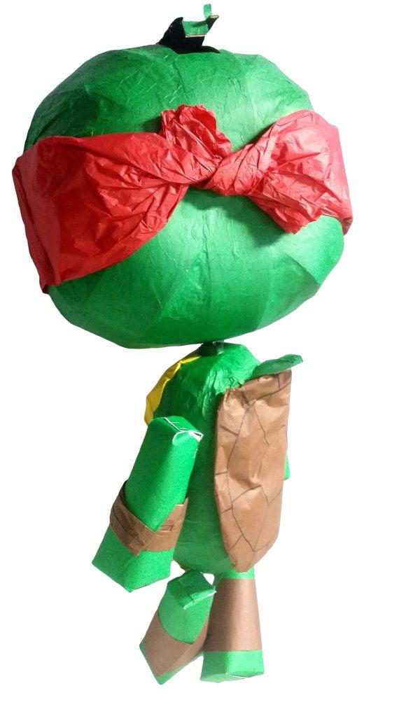 Piñata de títeres inspirado en las Tortugas Ninja