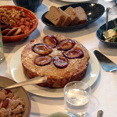 BUCKWHEAT PORRIDGE CAKE WITH PLUMS traditional use of buckwheat grains to make a delicious sweet dish.