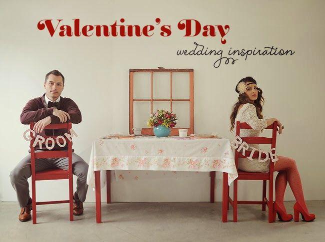 Valentine's Day Wedding - Blog Senhora Inspiração! | Via: Green Wedding Shoes