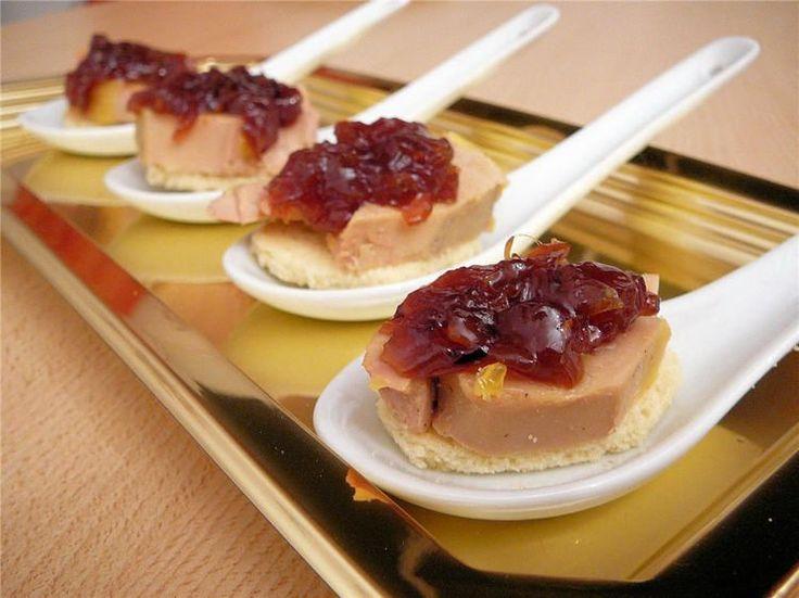 Foie con virutas de jamón
