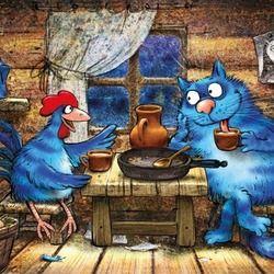 """Кот и Петух беседуют о любви (Сиквел """"Кот и Петух)"""