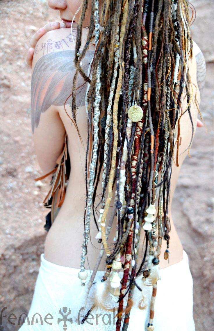 MEDICINE WOMAN Bohemian Hair Wraps Temporary by FemmeFeralle