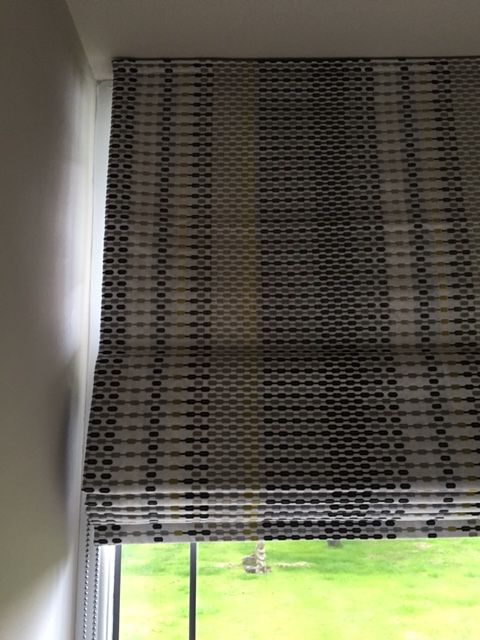 Funky roman blind in Harlequin Momentum 4 fabric #designedbyjustso #romanblind #funky #interior #harlequinfabric