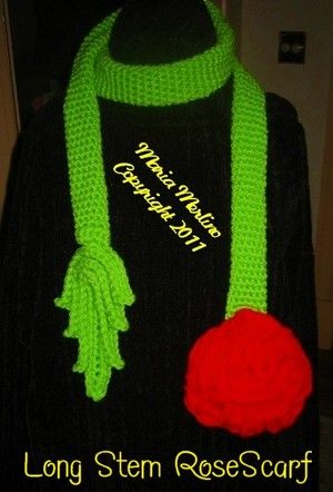 Free Crochet Long Stem Rose Pattern : 1000+ images about crochet lariat on Pinterest Crochet ...