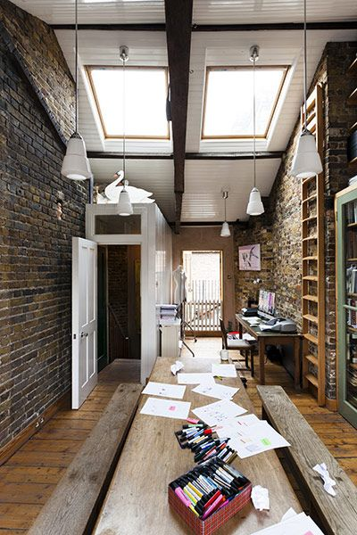 Rustic 19th-century antiques mix with sleek mid-century modern in this quirky King's Cross home