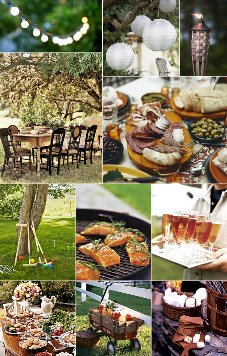 outdoor party: Rustic Gardens, Engagement Parties, Wedding Ideas, Dinner Parties, Outdoor Parties, Parties Ideas, Gardens Parties, Gardens Engagement, Rustic Wedding
