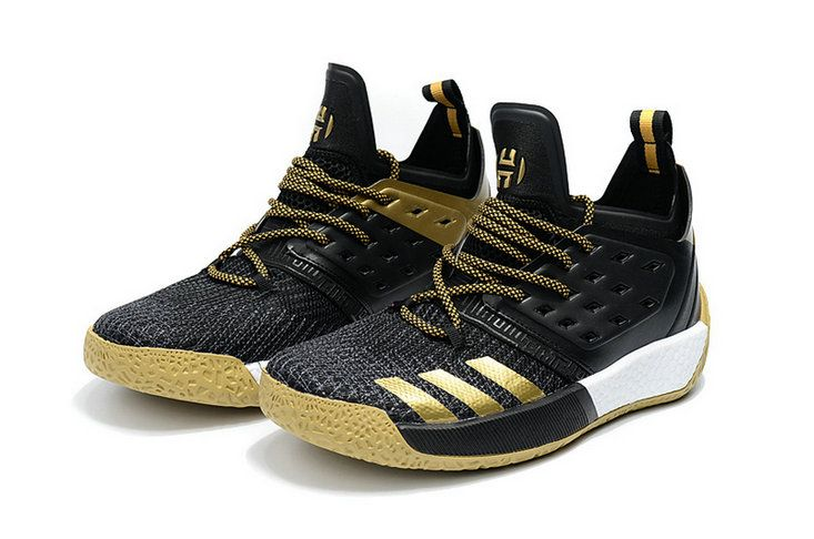f4ce86d7ff3 2018 的 Adidas James Harden Vol 2 Black Gold Popular Sneaker ...