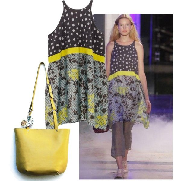 Yellow spring by borsebyd on Polyvore featuring moda, yellow, bag and BorsebyD