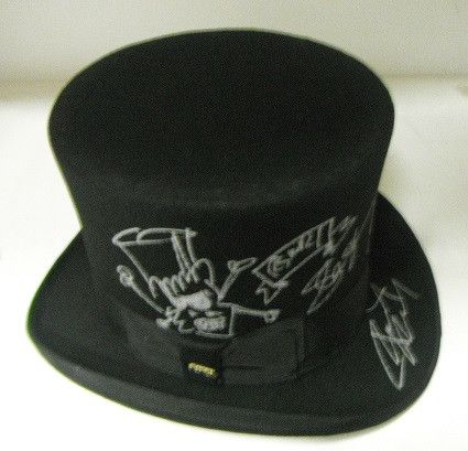 @11Main Slash Autographed Signed Top Hat: Beautiful Autographed Top Hat Signatures Include: Slash Autographed accessories make ...