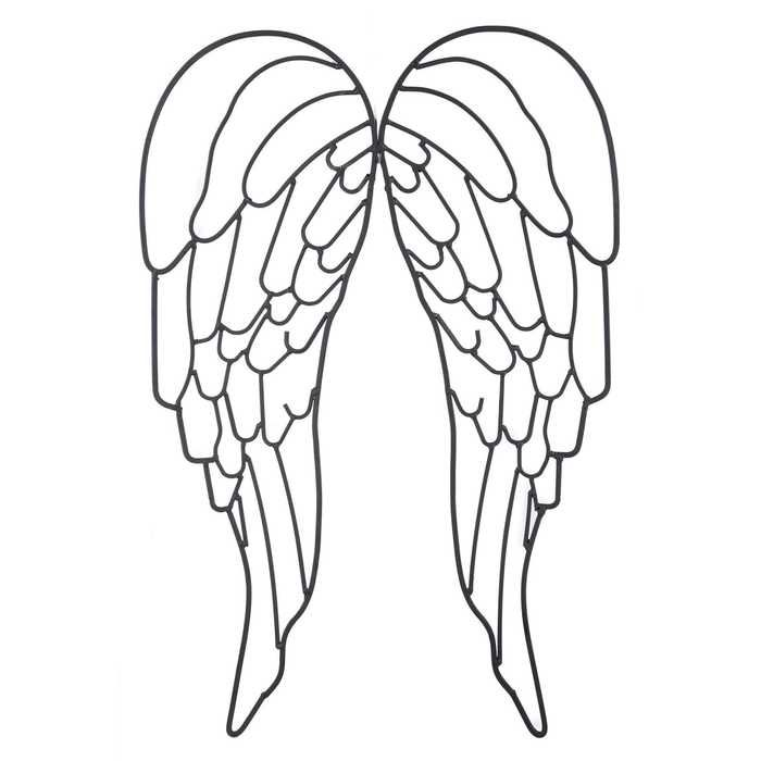 Black Metal Angel Wing Wall Decor Part 95