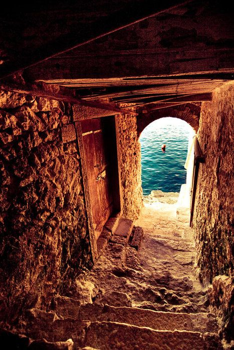 Passageway to the Sea, Isle of Crete, Greece