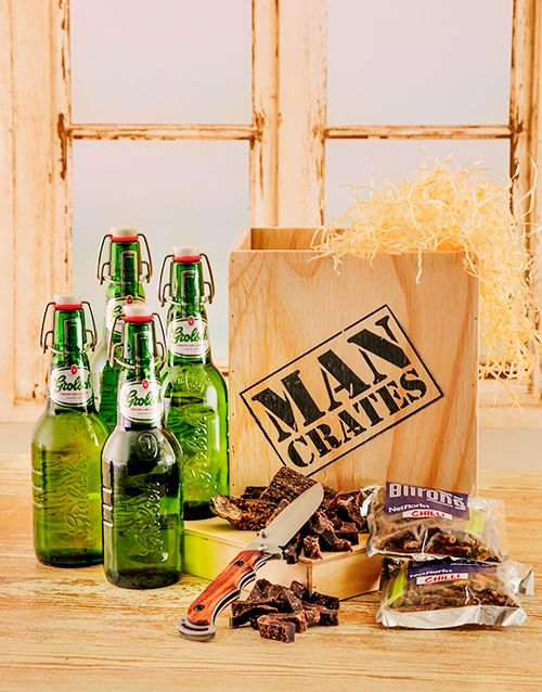 Buy Grolsch Beer & Biltong in a Crate Online - NetGifts