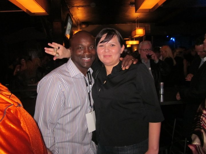 Wearing two of Willie Pless's Grey Cup rings. Night of Champions 2010
