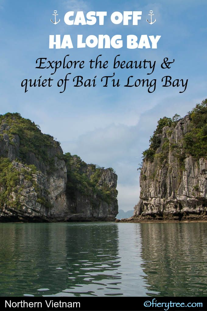 You may be familiar with Ha Long Bay but take a cruise to the more secluded and pristine Bai Tu Long Bay, filled with the same gorgeous limestone cliffs but only a handful of ships. #Vietnam