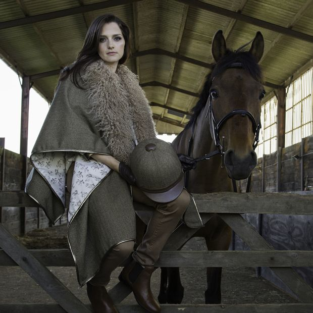 COMPETITION - Win a £695 Evie Cape with Horse Print Lining by Recipy - Competition ends 30 Sept 2015. Enter at www.stylereins.com: