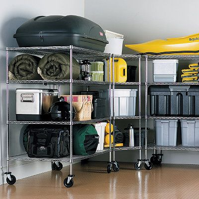 Oversized Garage Storage Shelving Shelves Wheels And Garage