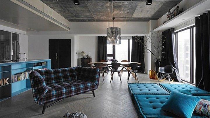 Эклектичный дизайн современной квартиры-студии | umods.ru
