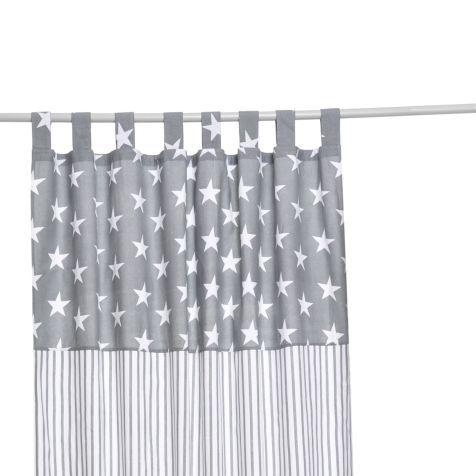 Vorhang Stars and Stripes, Schlaufenaufhängung, Baumwolle, ca. L250xB140 cm Detailansicht
