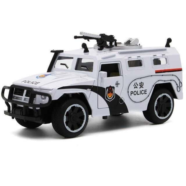 Sheriff's Chariots 1:32 5 Doors can be Opened's Diecast Metal Car Boy Police Car Model Alloy Car Toy