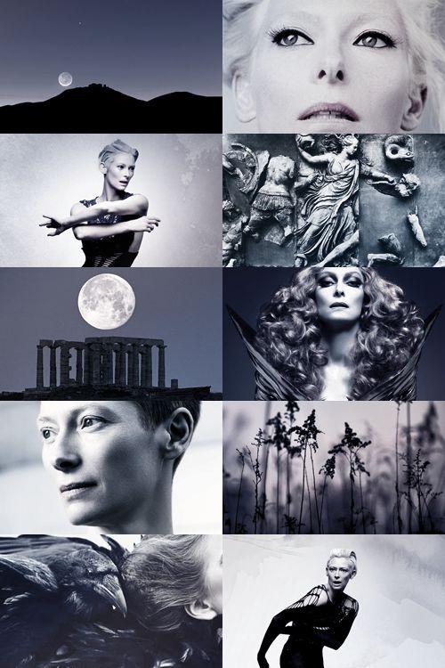 Greek mythology casting - Tilda Swinton as Nyx: goddess of the night