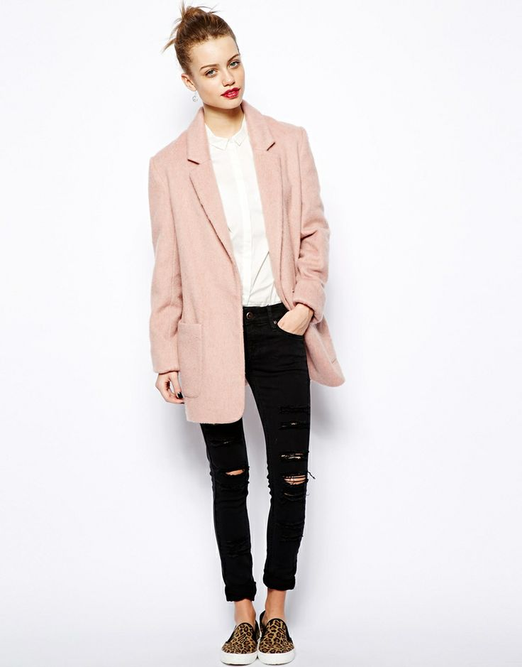 1000  images about Oversized light pink coat on Pinterest | Pastel