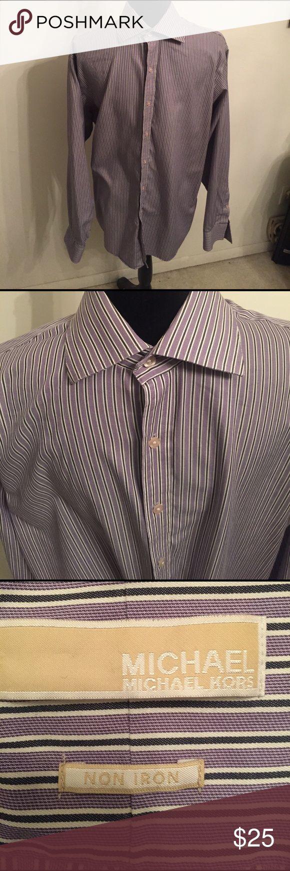 MICHAEL (MICHAEL KORS) non iron dress shirt. MICHAEL dress shirt. Size 16 1/2. 34/35. Perfect for Easter. It is non iron. Shirts Dress Shirts