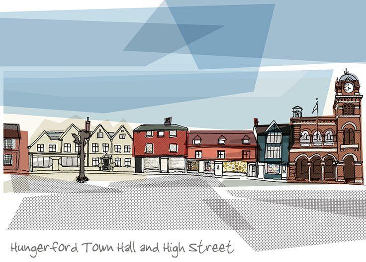 Hungerford Town Hall, #Hungerford High Street #Berkshire  www.vanillawhite.com
