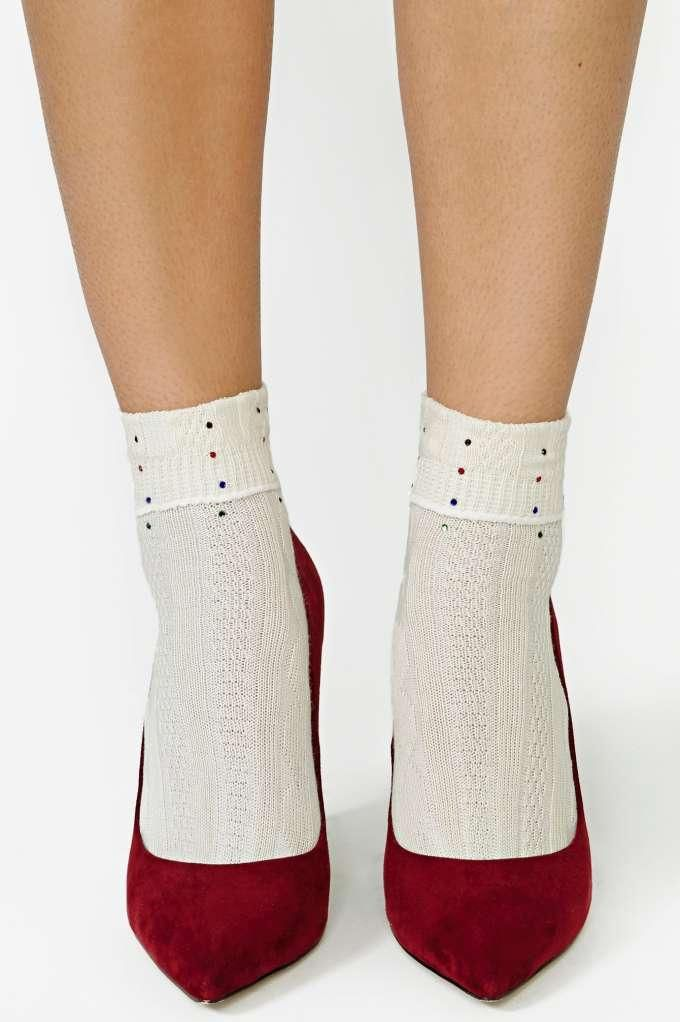 Cut To The Lace Top Socks And Ankle