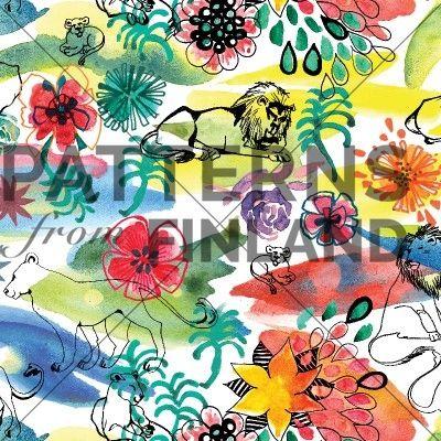 Daydream by Kahandi Design   #patternsfromfinland #kahandidesign #pattern #surfacedesign #finnishdesign
