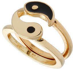 #us.missselfridge.com     #ring                     #Black #Ying #Yang #Ring  Black Ying Yang Ring                                http://www.seapai.com/product.aspx?PID=1002258