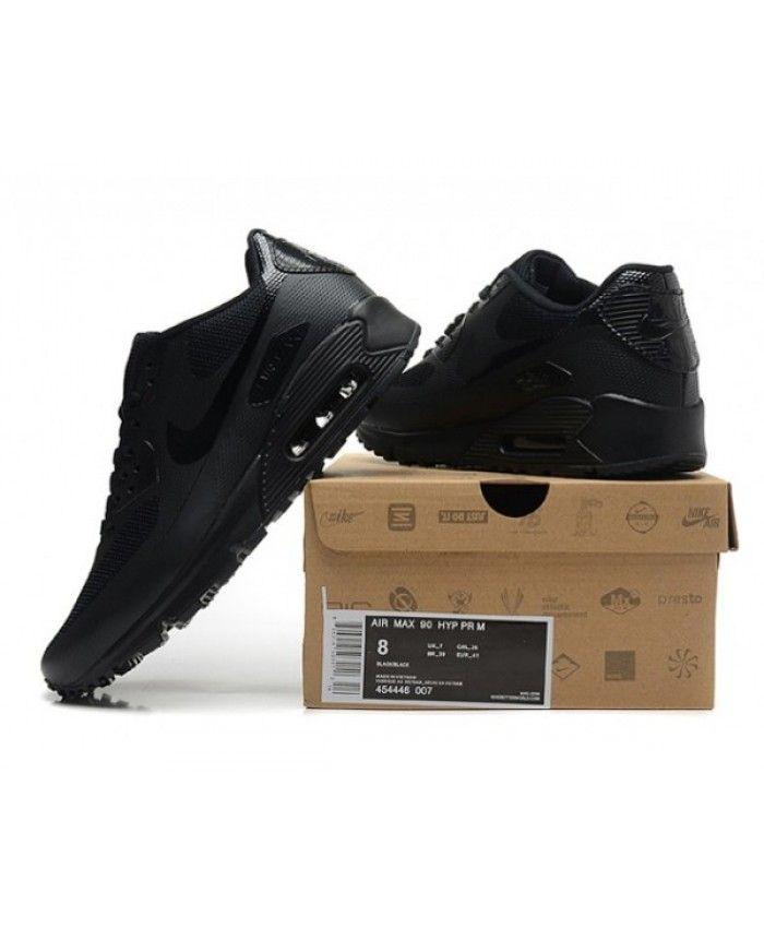 d71d8daec0575 Mens Nike Air Max 90 Hyperfuse Qs All Black 6809331-256 | Air Max ...
