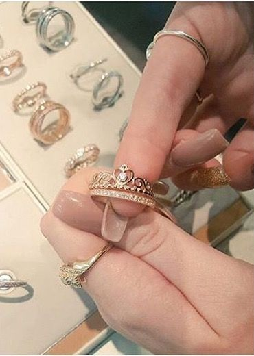 Rose gold princess ring from Pandora. Uh yes please