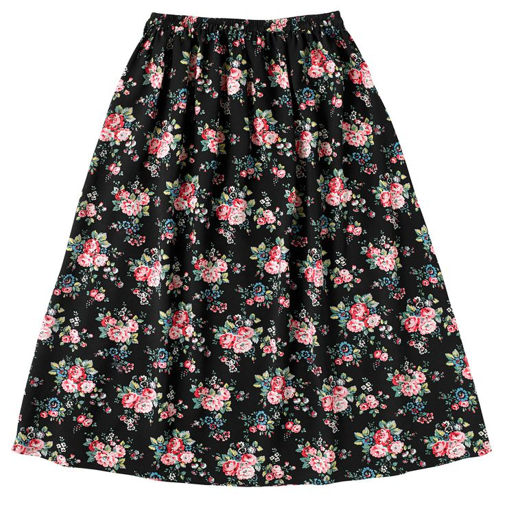 Spray Flowers Long Skirt | Cath Kidston |