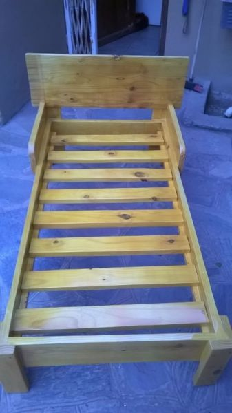2 Toddler beds for sale Handmade beds. Never been used as we design and make beds.1 bed is white and its going with a mattress and the other bed is nicely vanished and no mattress. The 1 with the mattress is selling for R1500.00 and other one is R1100.00Both Beds are small toddler beds. Dimensions for both beds are 130 x 67Fits a toddler up until the age of four and halfif interested please contact Stash on 0817907984 or please reply to this email.Thank you